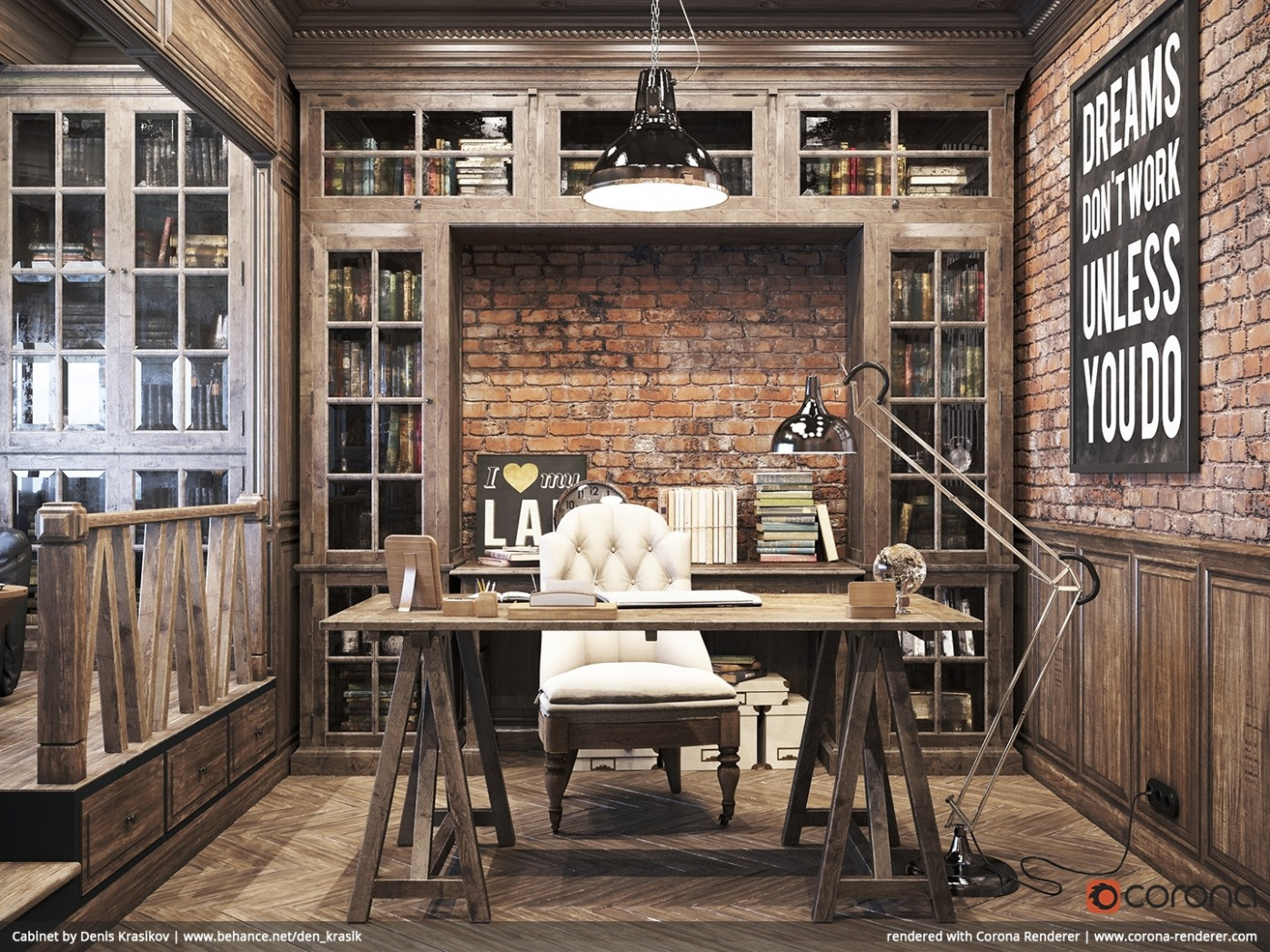 Rustic Home Workspace Best Office Ideas Designs – Saltandblues - Home Office Ideas Rustic