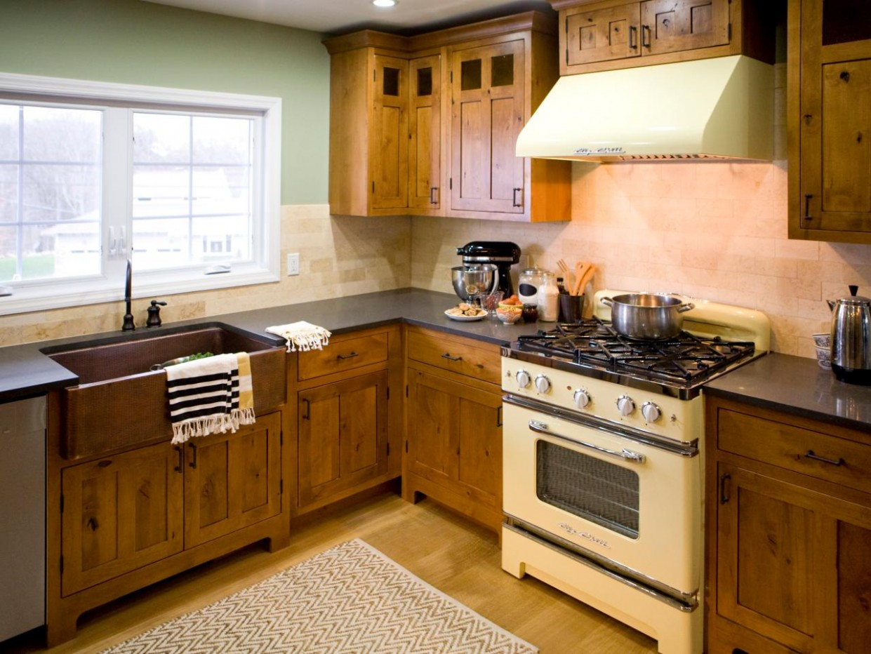 Rustic Kitchen Cabinets: Pictures, Options, Tips & Ideas  HGTV - Kitchen Cabinet Color Trends 2012