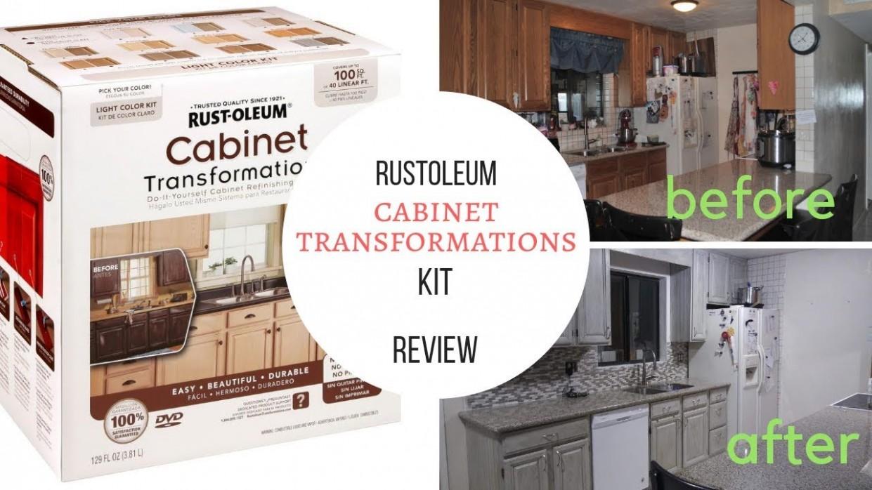Rustoleum Cabinet Transformations Kit review and mini tutorial - Rustoleum Kitchen Cabinet Paint Kit Reviews