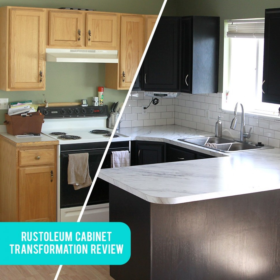 Rustoleum Cabinet Transformations review, before + after, and tips  - Rustoleum Kitchen Cabinet Paint Kit Reviews