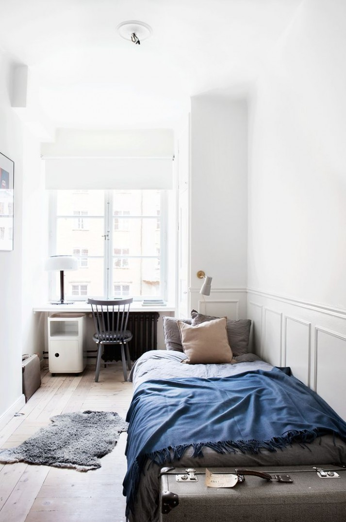 scandinavian bedroom minimalist  Simple bedroom, Home decor  - Bedroom Ideas Single Bed
