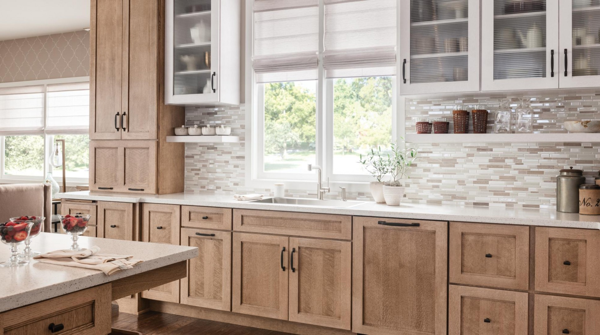 Schuler Cabinetry at Lowes  New Finish: Cappuchino - Lowes Cherry Wood Kitchen Cabinets