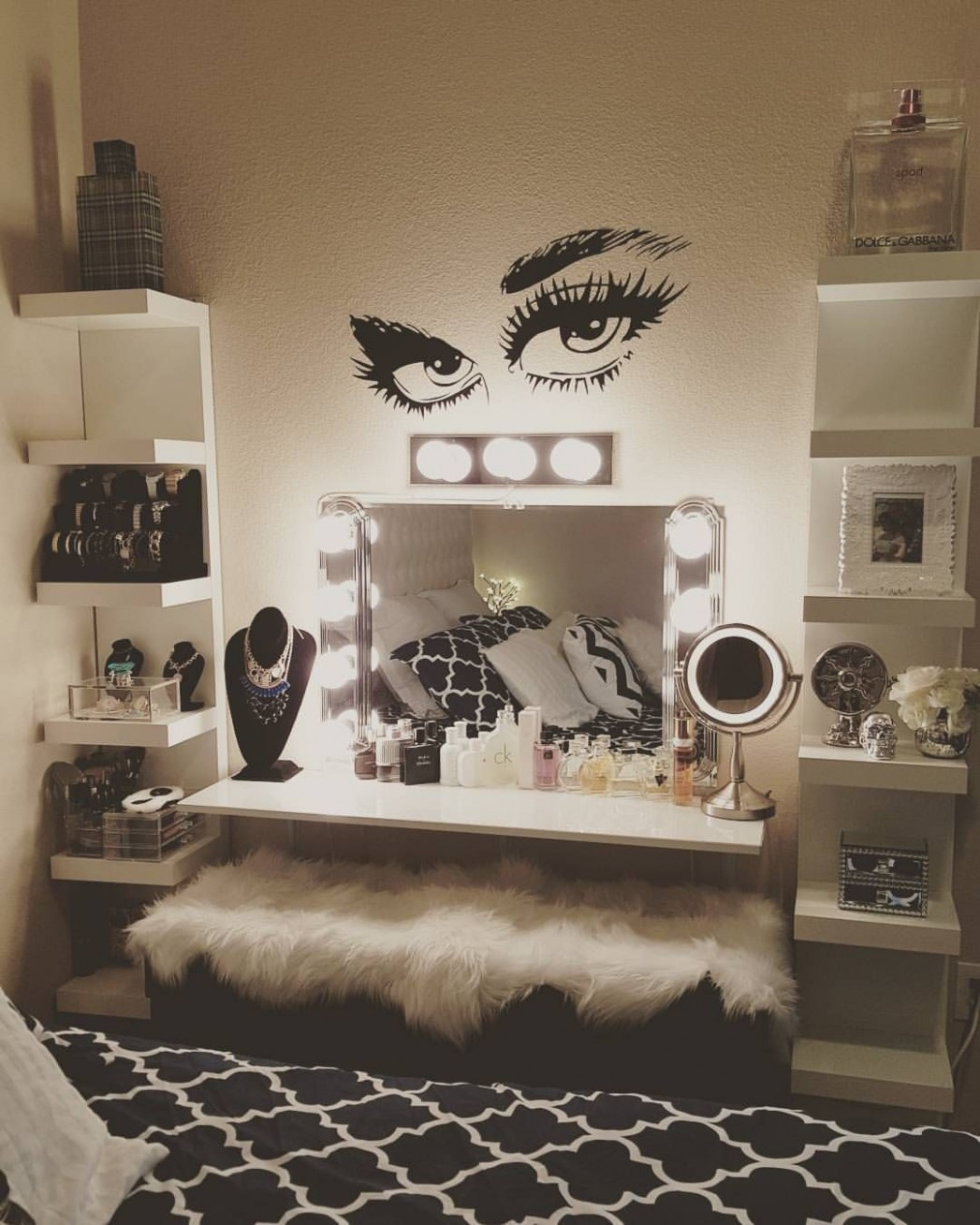 See this Instagram photo by @sophiecute11 • 11 likes  Glam room  - Makeup Room In Bedroom