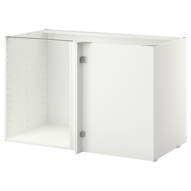 "SEKTION Base corner cabinet frame - white 11x11x11 "" (11x11x11 cm) - 24 Inch Corner Kitchen Base Cabinet"