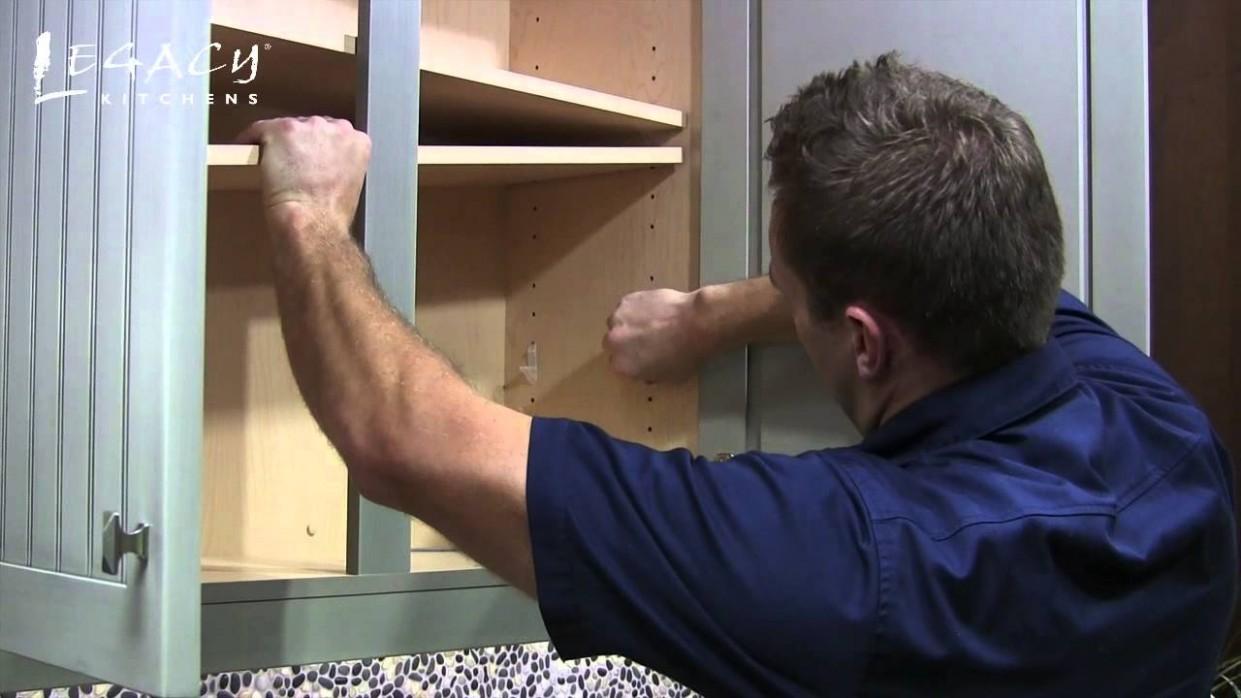 Shelf Adjustment: Center Stile - How To Remove Kitchen Cabinet Shelf Clips