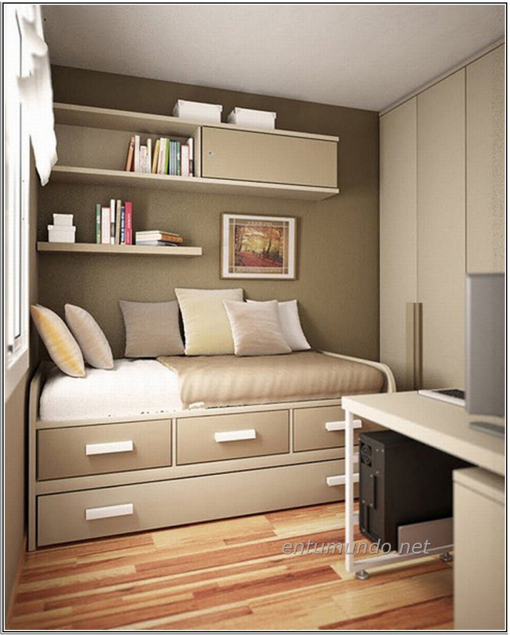 Small Bedroom Space Saver Ideas  Small space bedroom, Small  - Bedroom Ideas Space Saving