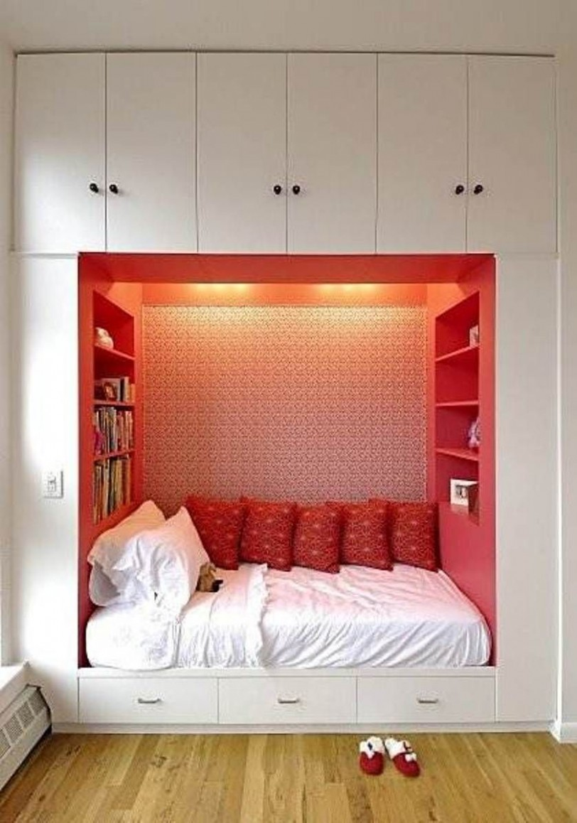 small bedroom with alcove  Small bedroom interior, Bedroom wooden  - Bedroom Ideas Space Saving