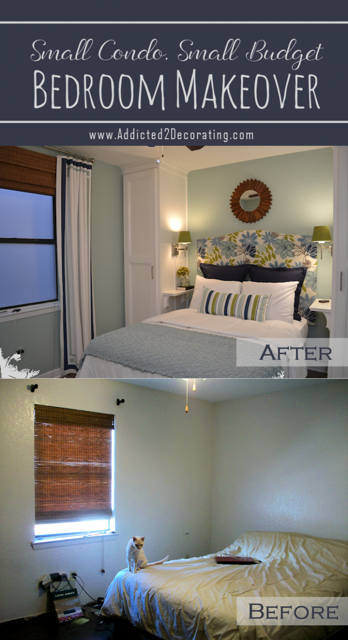 Small Condo, Small Budget Bedroom Makeover - Before & After  - Bedroom Ideas On A Budget