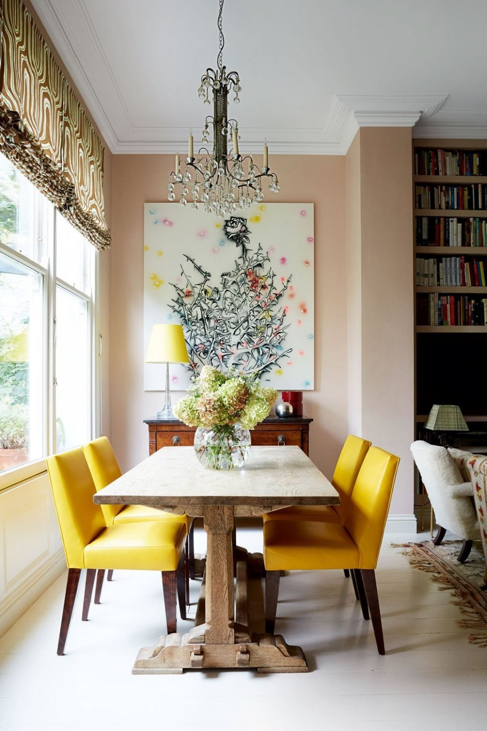 Small dining room ideas  Yellow dining room, Yellow dining chairs  - Small Dining Room Ideas Uk