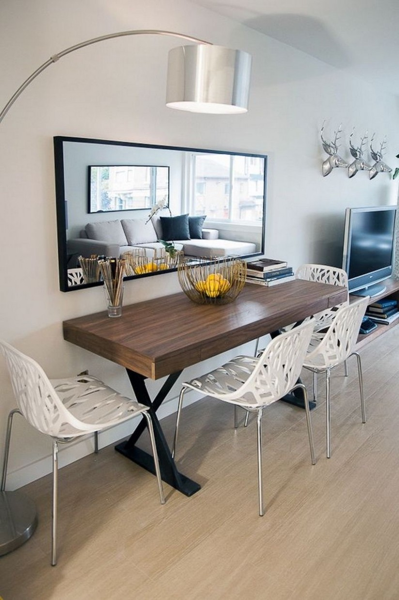 Small Dining Table For 11 Apartment Dining Room Ideas Pinterest  - Dining Room Ideas Small Spaces Pinterest