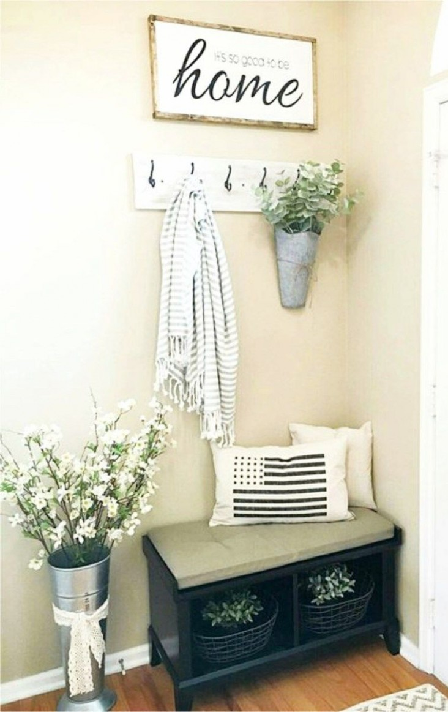 Small Entryways - 10+ Small Foyer Decor Ideas For Tiny Foyers  - Apartment Entrance Decor Ideas