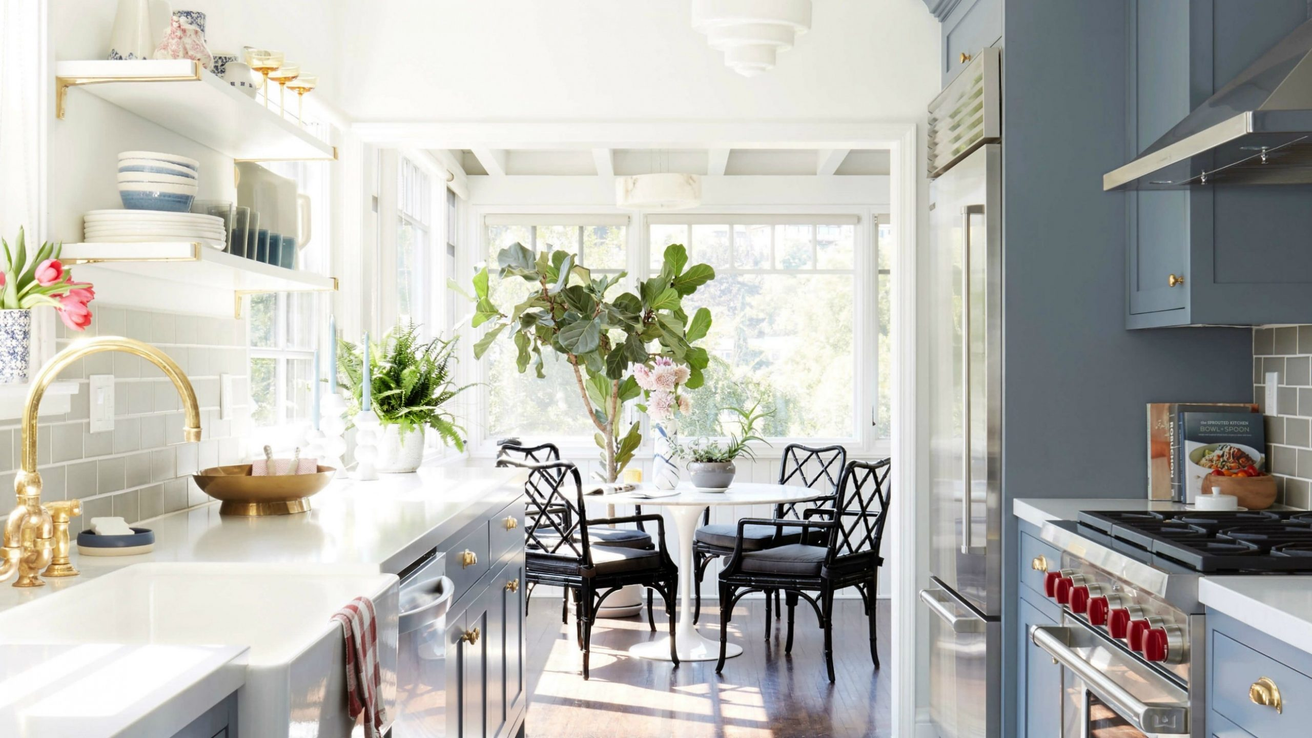 Small Galley Kitchen Ideas & Design Inspiration  Architectural Digest - Dining Room Off Kitchen Ideas