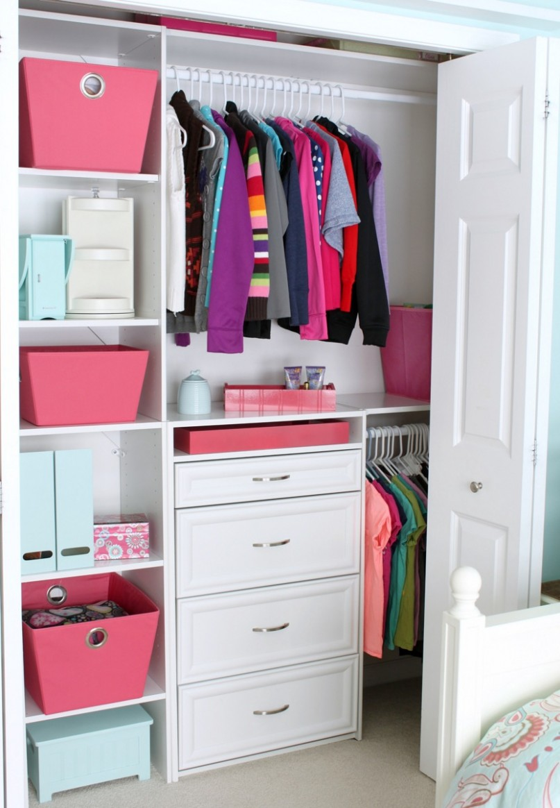 Small Reach-in Closet Organization Ideas  The Happy Housie - Closet Ideas Small Bedrooms
