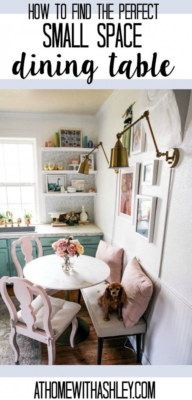 Small Space Dining Table - at home with Ashley  Dining room small  - Dining Room Ideas For Small Apartments