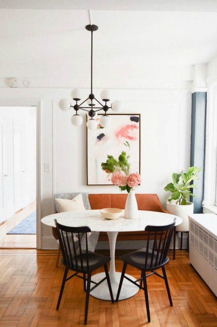 Small Space Living Series- New York City Apartment with Crystal  - Dining Room Ideas Apartment