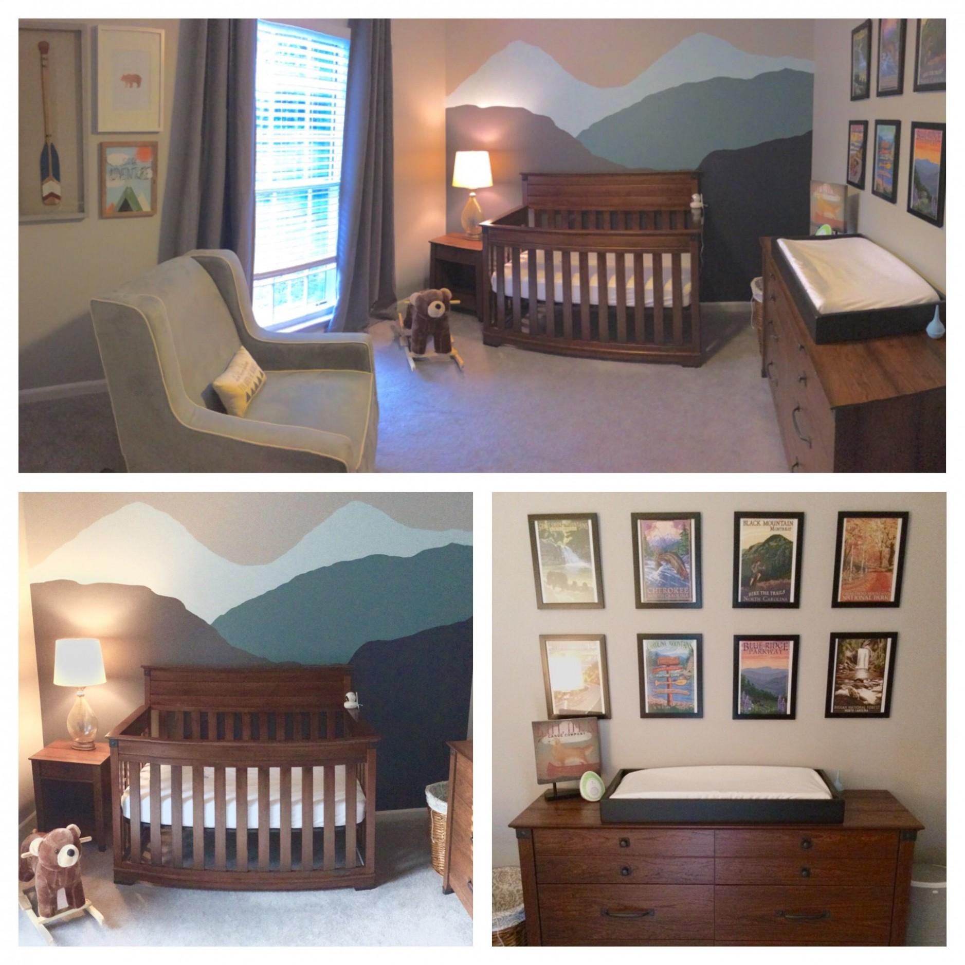 Smoky Mountain Nursery #baby #nursery #camping #mountain  Camping  - Baby Room Near Me