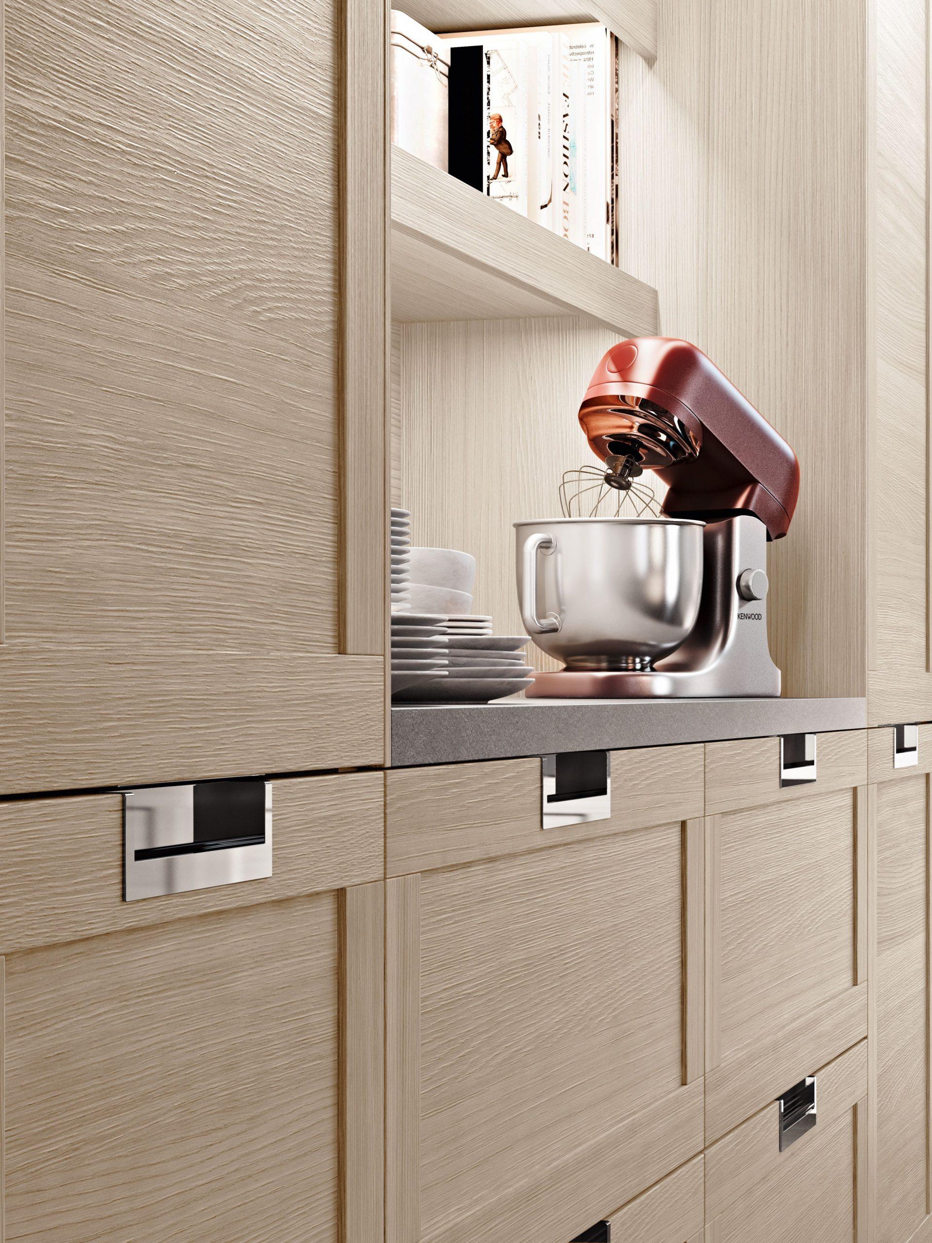 """Snaidero LUX kitchen cabinet handle is considered a """"non-handle  - Kitchen Cabinet Handle Design"""