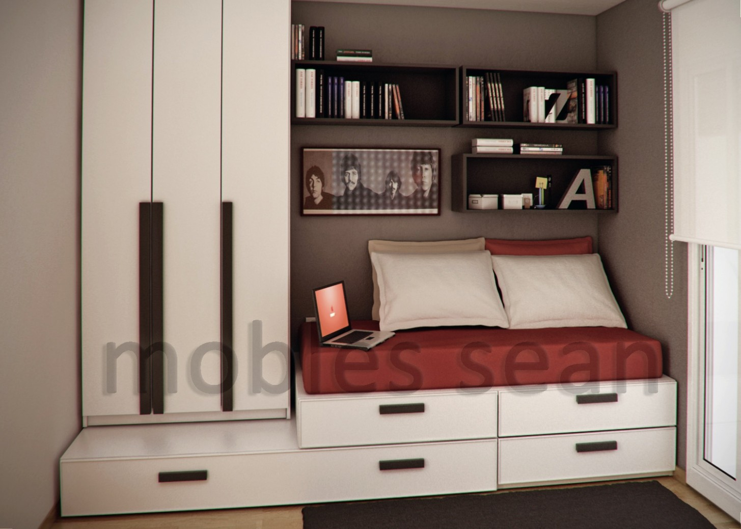 Space-Saving Designs for Small Kids Rooms - Bedroom Ideas Space Saving