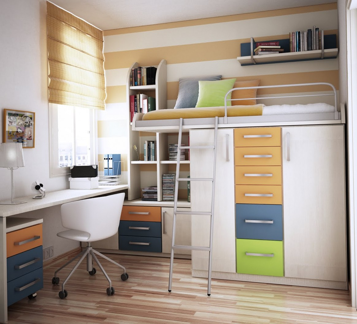 Space Saving Ideas for Small Kids Rooms - Bedroom Ideas Space Saving