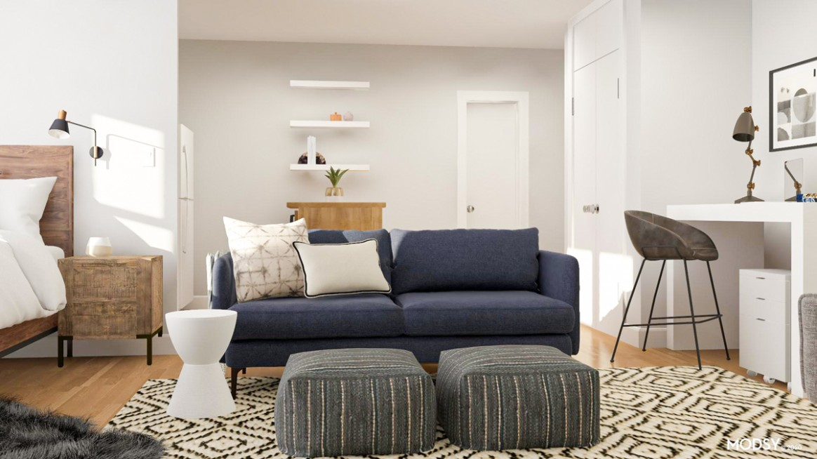 Studio Layout Guide: Two Ways to Design a Small Studio Apartment - Apartment Design Guide Part 5