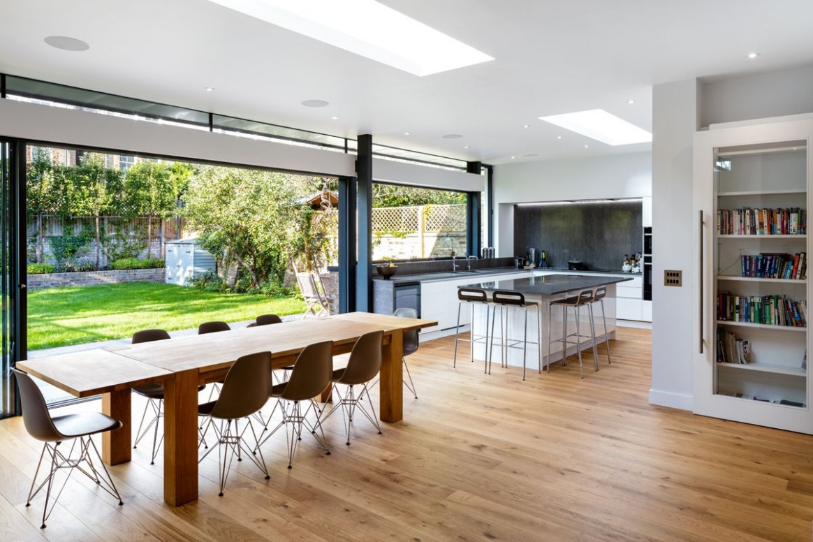 Stunning glass kitchen, dining, family room extension with roof  - Kitchen Dining Room Extension Ideas