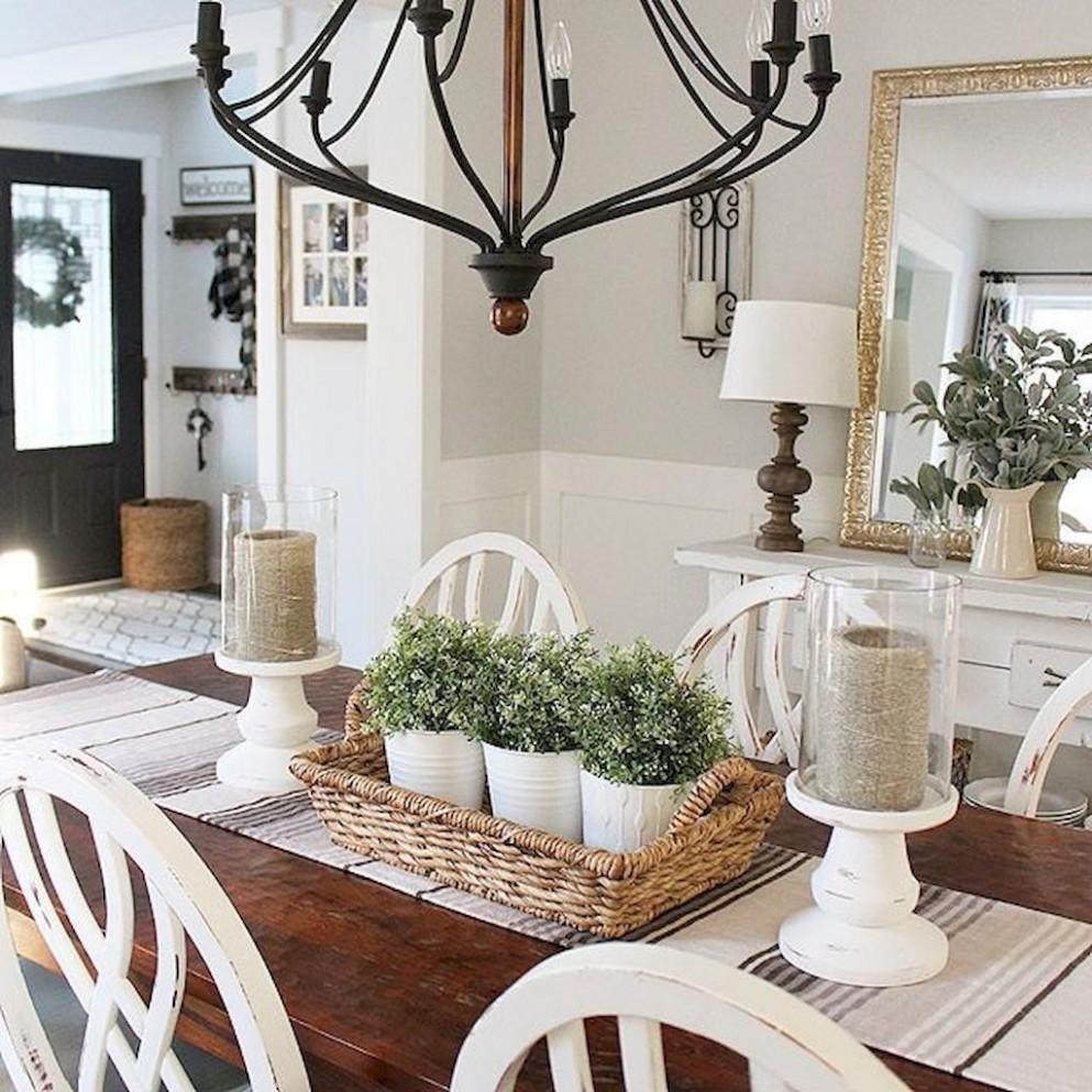 Stunning Rustic Farmhouse Dining Room Decor Ideas (10)  Farmhouse  - Dining Room Accessories Ideas