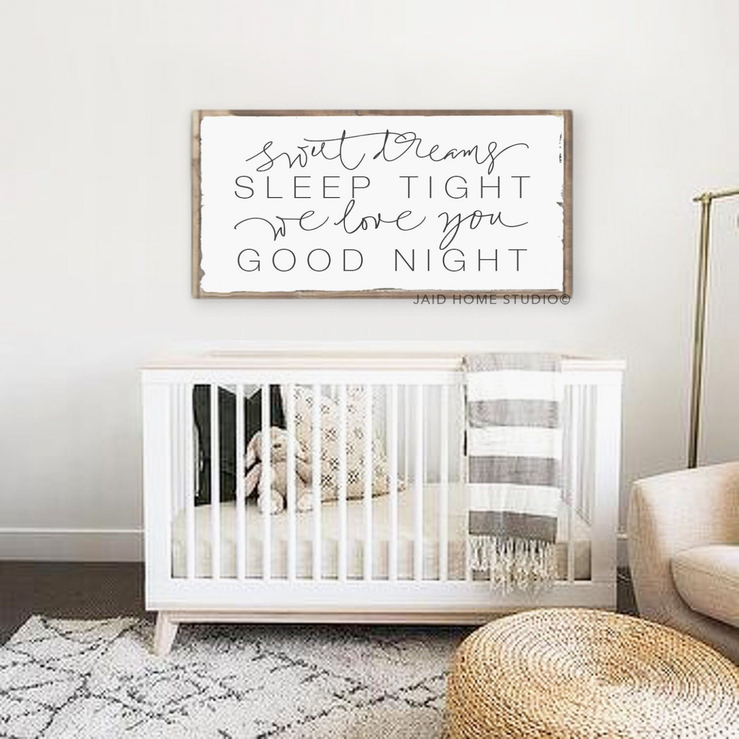 Sweet Dreams Sign, Love Sign, Neutral Nursery, Nursery Quote, Baby  - Baby Room Signs