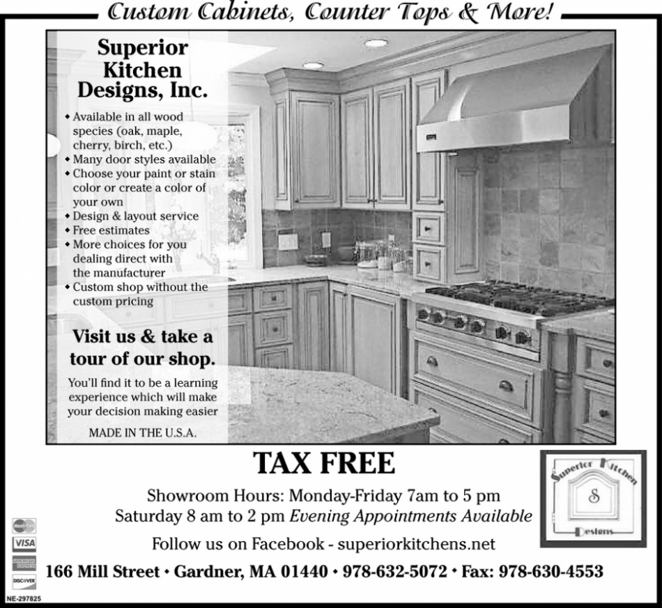 Tax Free, Superior Kitchens Designs, Inc - Superior Kitchen Cabinets Gardner Ma