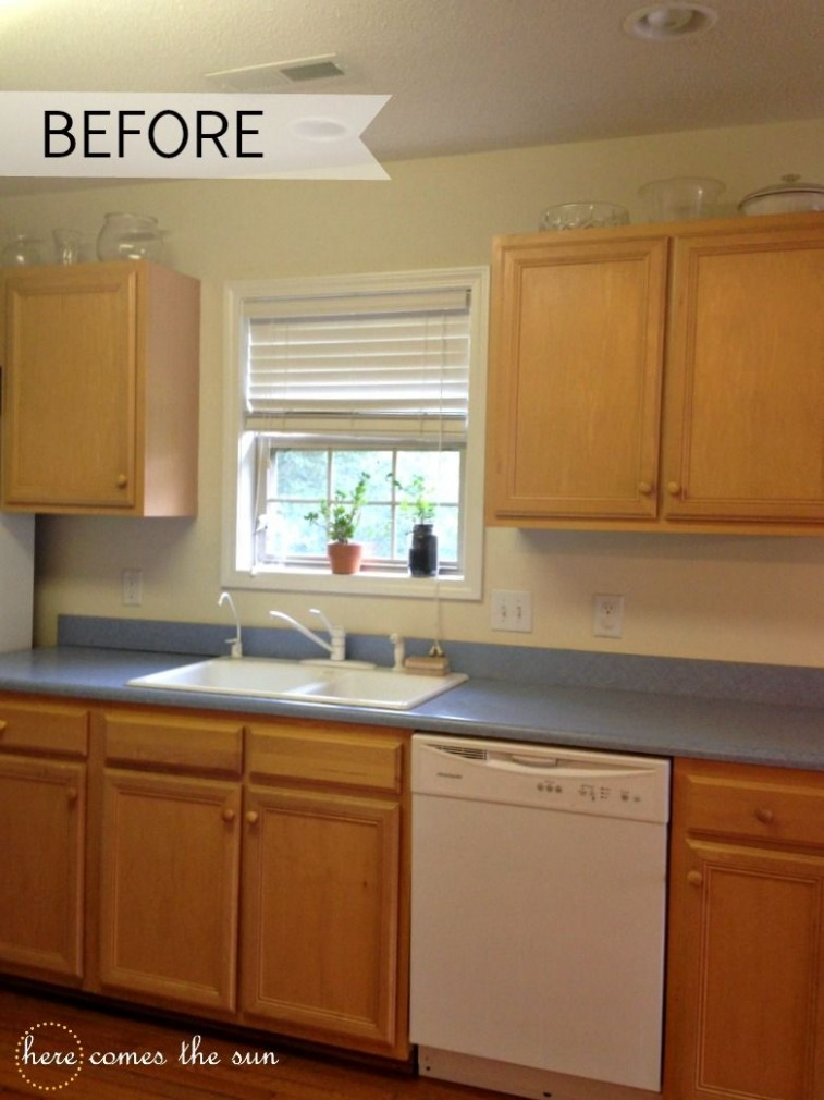 Temporary Covers For Kitchen Cabinets  Rental kitchen makeover  - Temporary Kitchen Cabinet Covers