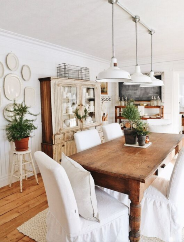 The 11 Most Beautiful Dining Rooms on Pinterest-Farmhouse Dining  - Dining Room Ideas Small Spaces Pinterest