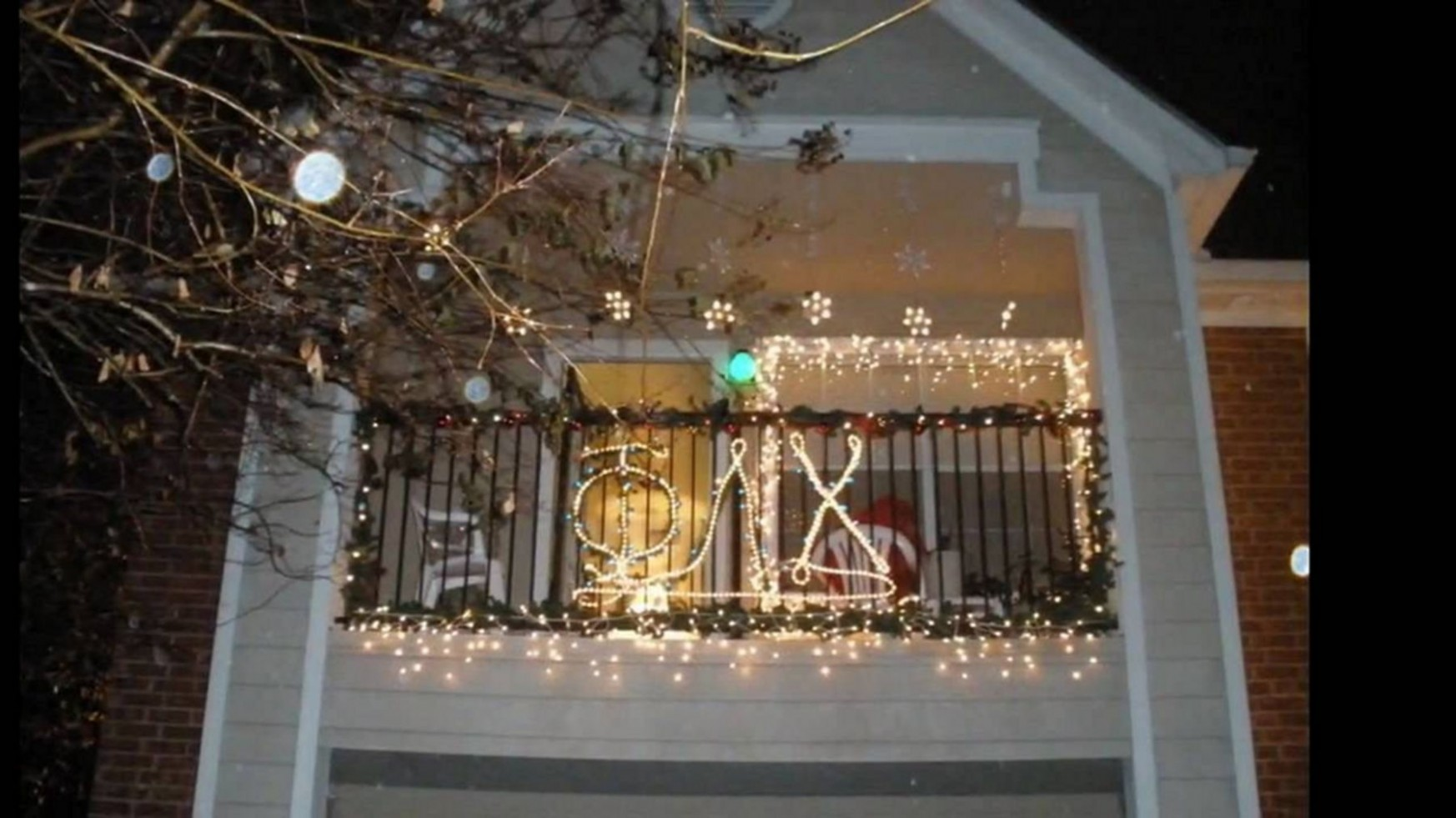 The Best 11 Cool Christmas Lights Decorating Ideas For Balcony  - Apartment Balcony Decorating Ideas Christmas