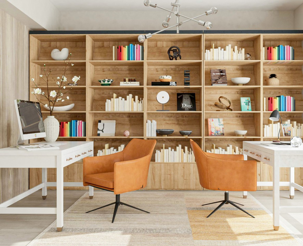 The Best Design Tips for Home Offices With Two Desks - Home Office Ideas Two Desks