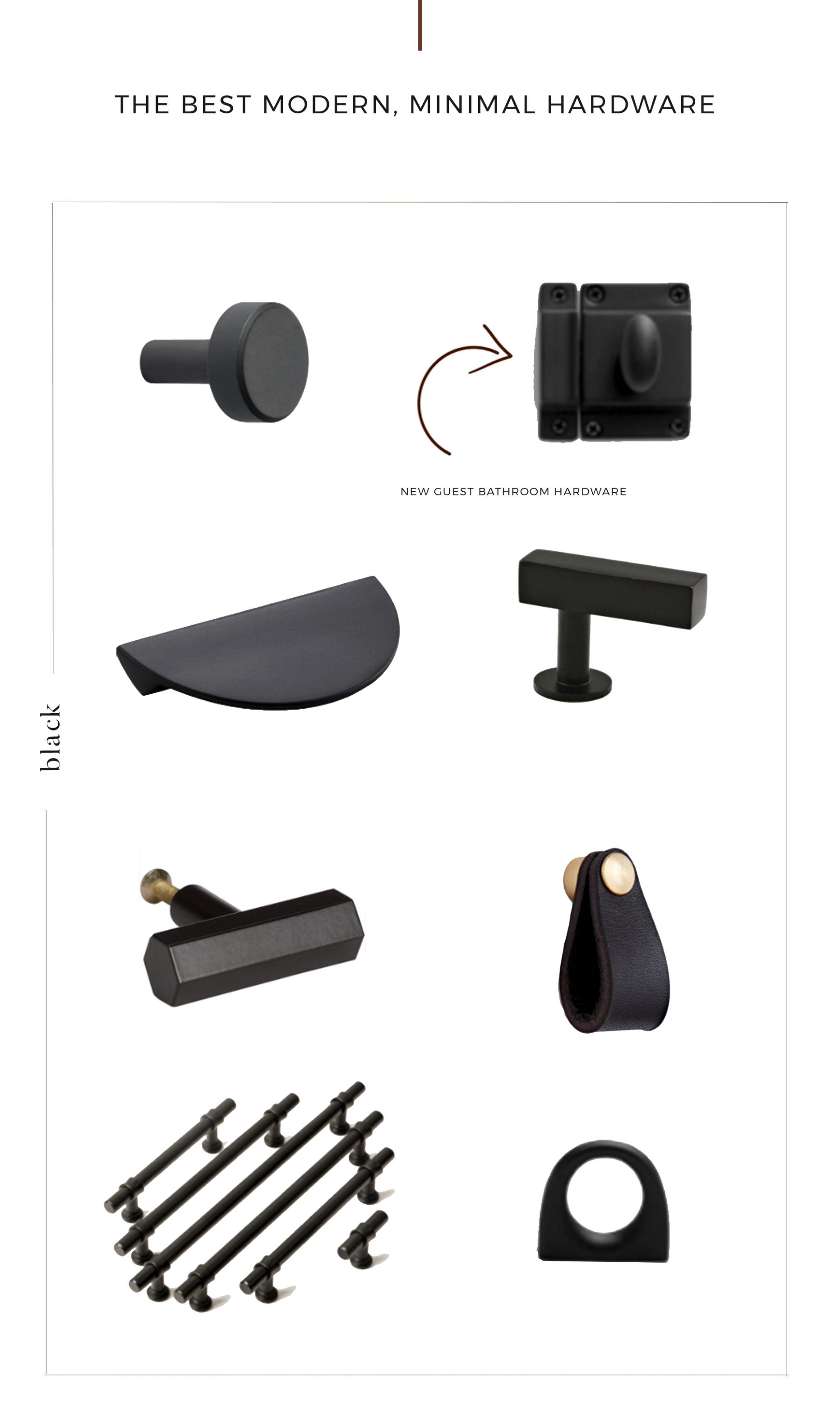 The Best Modern + Minimal Cabinet Hardware - The Identité Collective - Matte Black Kitchen Cabinet Hardware