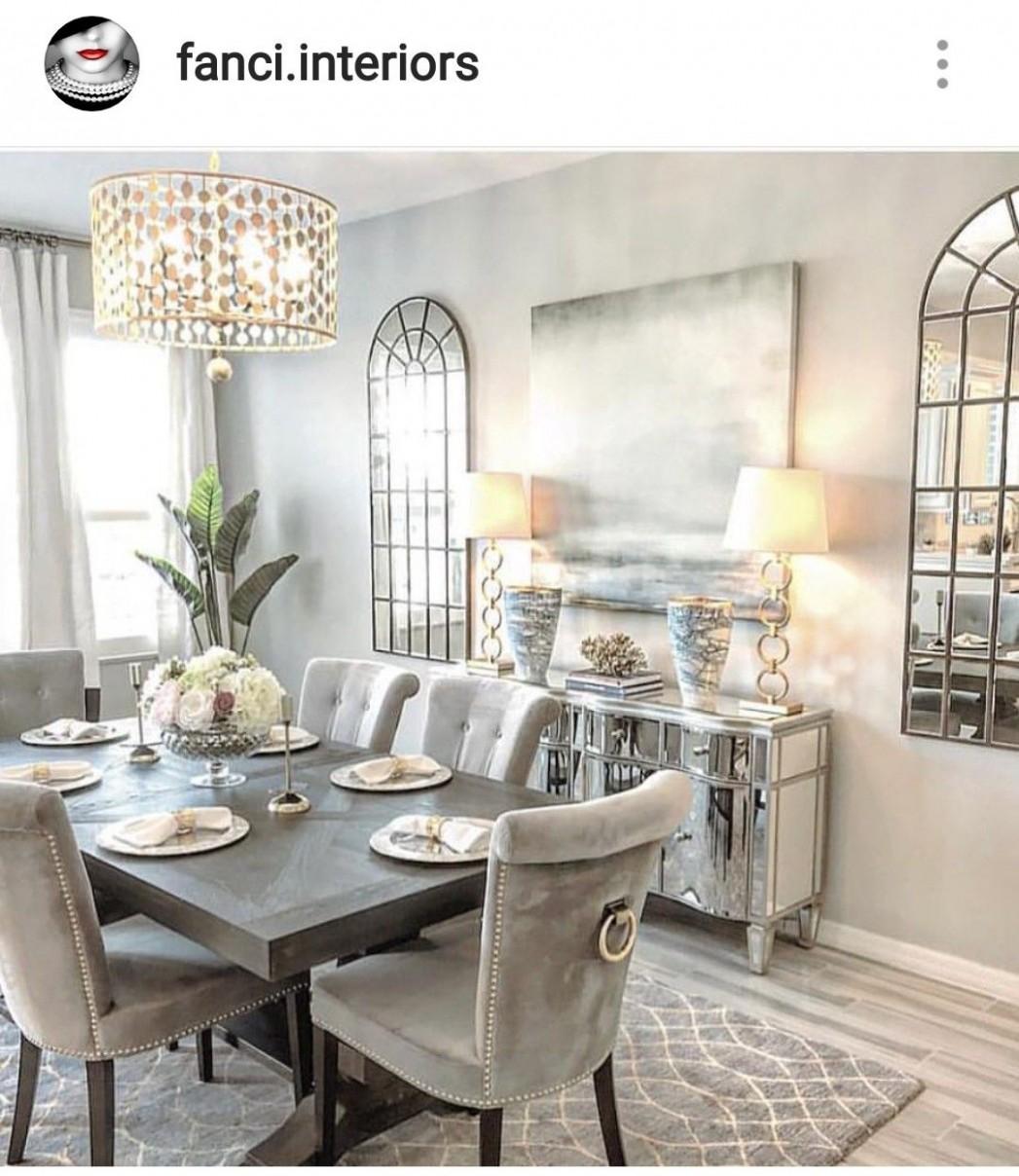 The Chic Technique: Cream and gray dining room idea