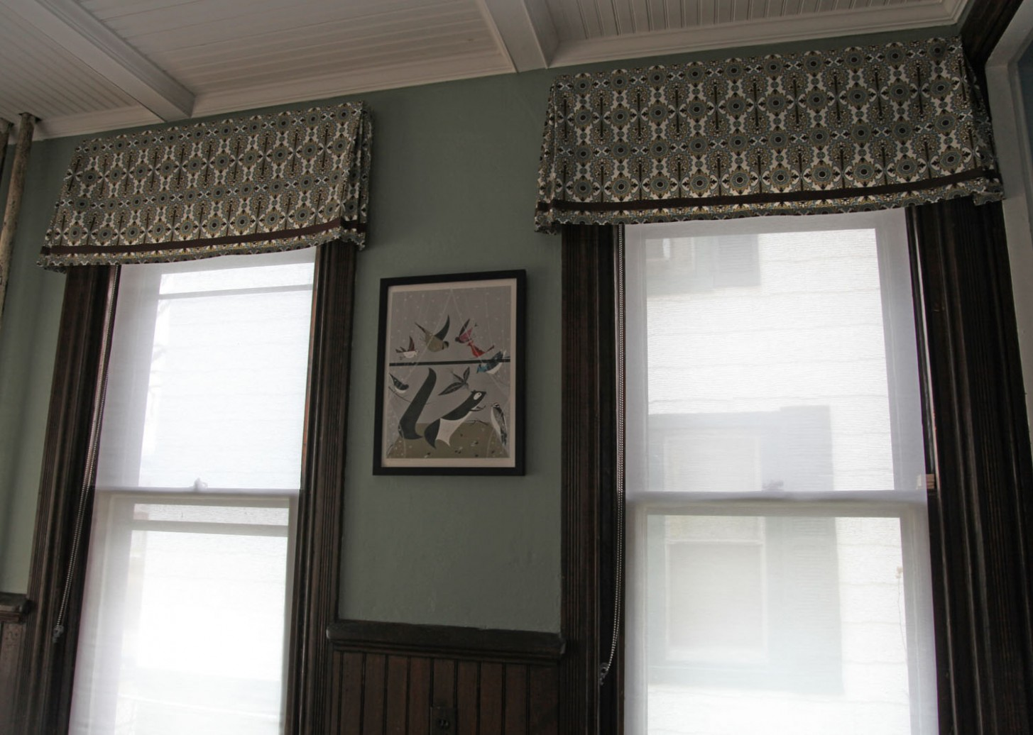 The Dining Room Windows: The Valances  Stately Kitsch - Dining Room Window Valance Ideas