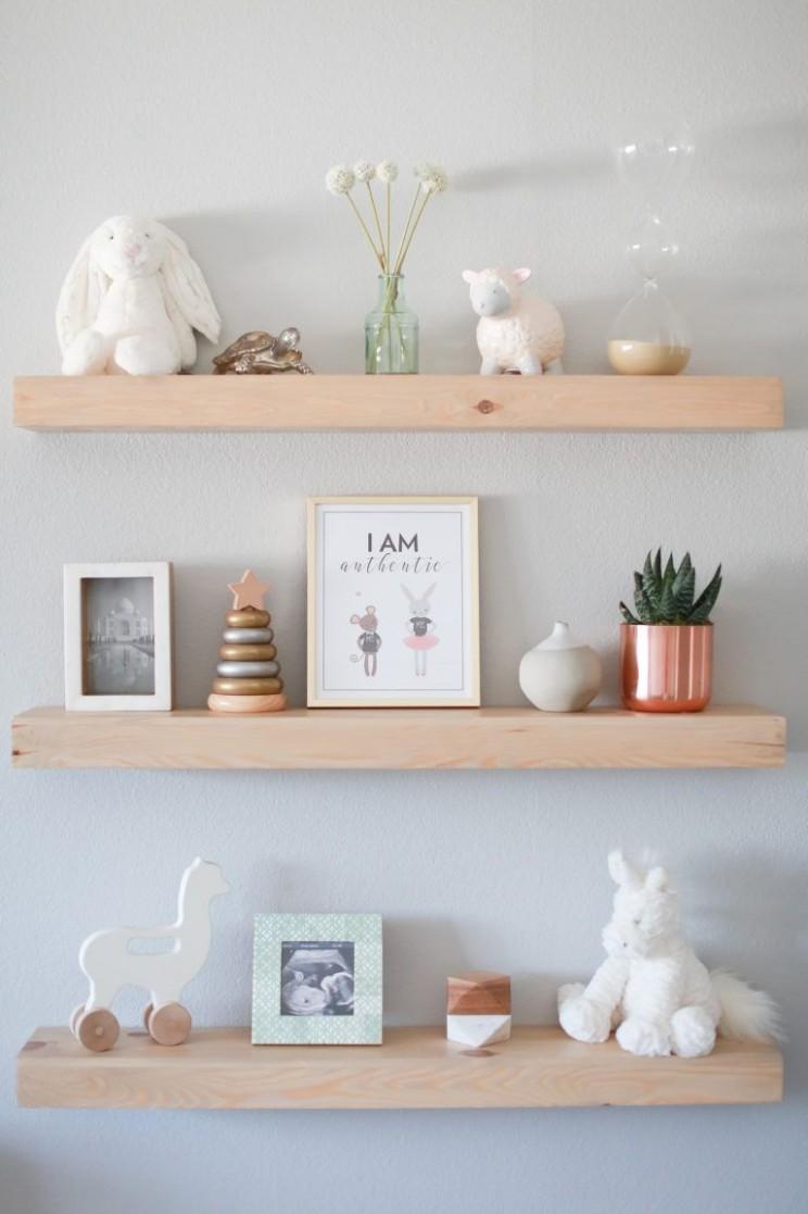 The Dream Nursery Movement - Project Nursery  Nursery baby room  - Baby Room Shelves
