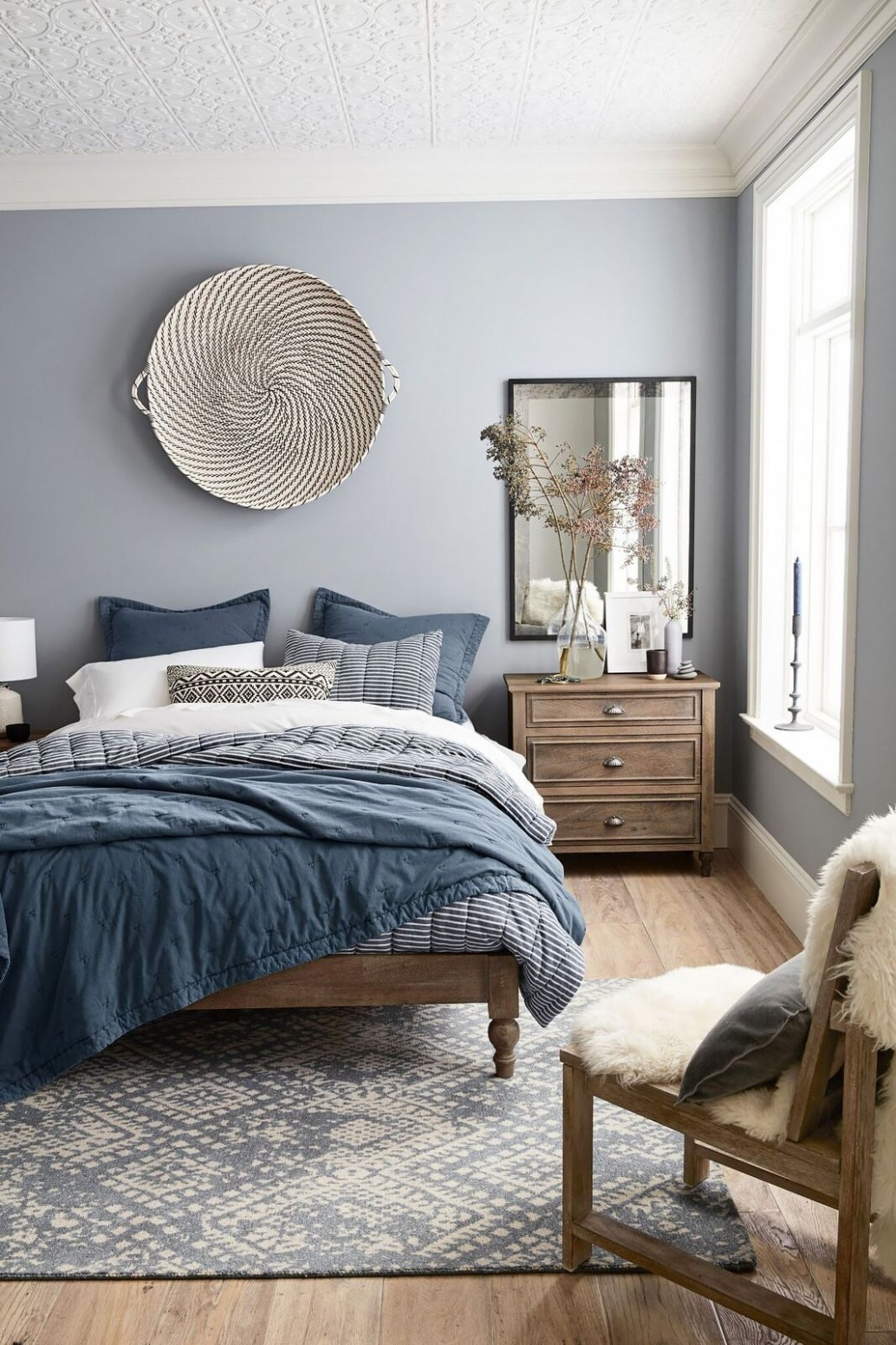 The One Thing a Designer Would Never Do in a Small Space  Home  - Bedroom Ideas In Blue