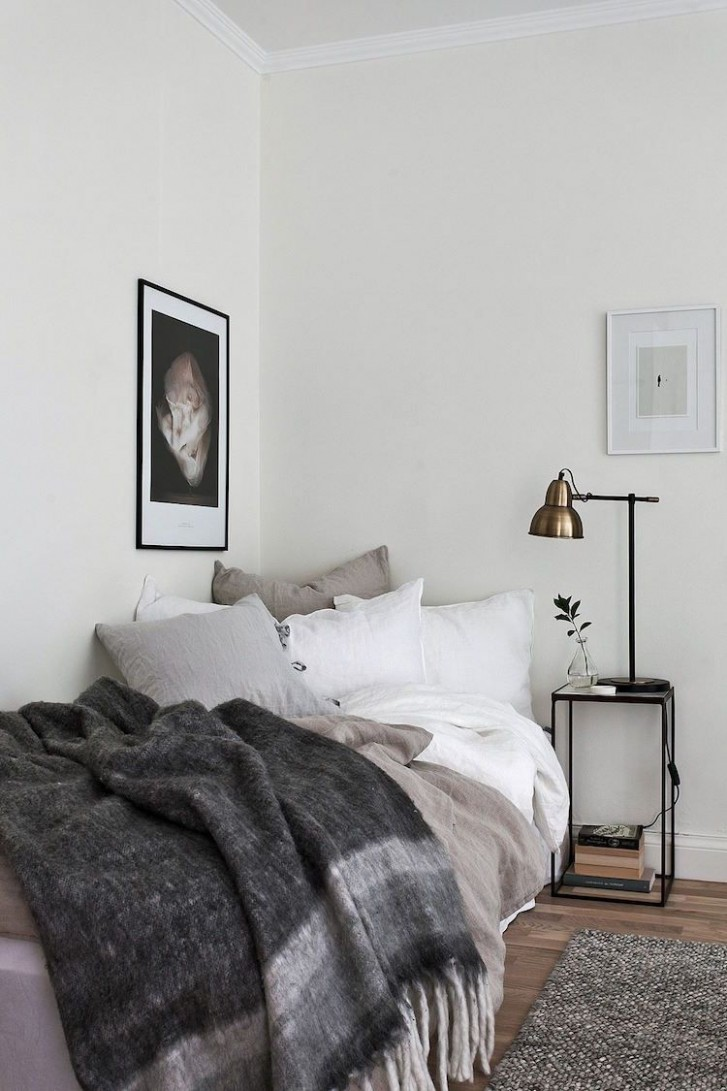 The perfect Swedish studio apartment for one!  Single bedroom  - Bedroom Ideas Single Bed