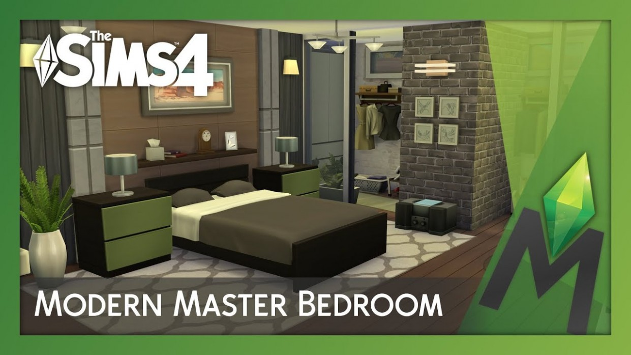 The Sims 11 Room Building - Modern Master Bedroom - Bedroom Ideas Sims 4