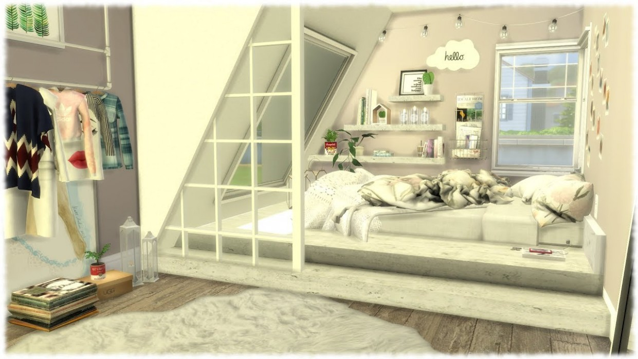 The Sims 11: Speed Build // TUMBLR BEDROOM - Bedroom Ideas Sims 4