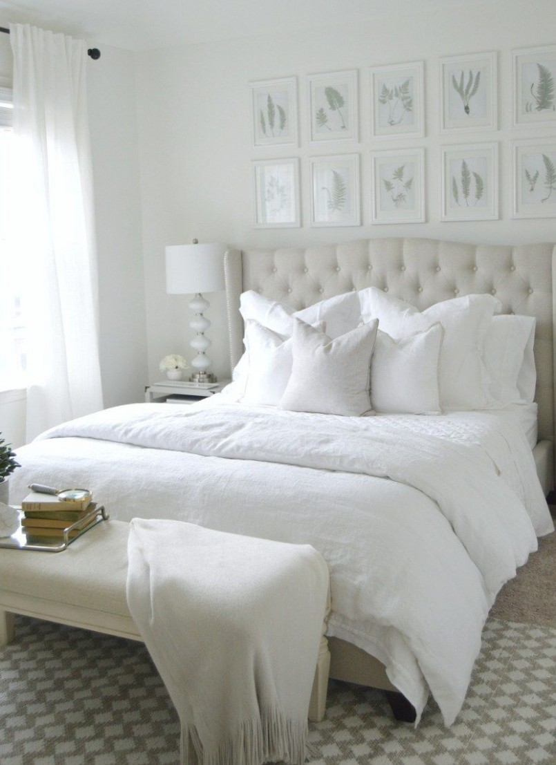The Ultimate White Bedroom - Pottery Barn  White master bedroom  - Master Bedroom Quilt Ideas