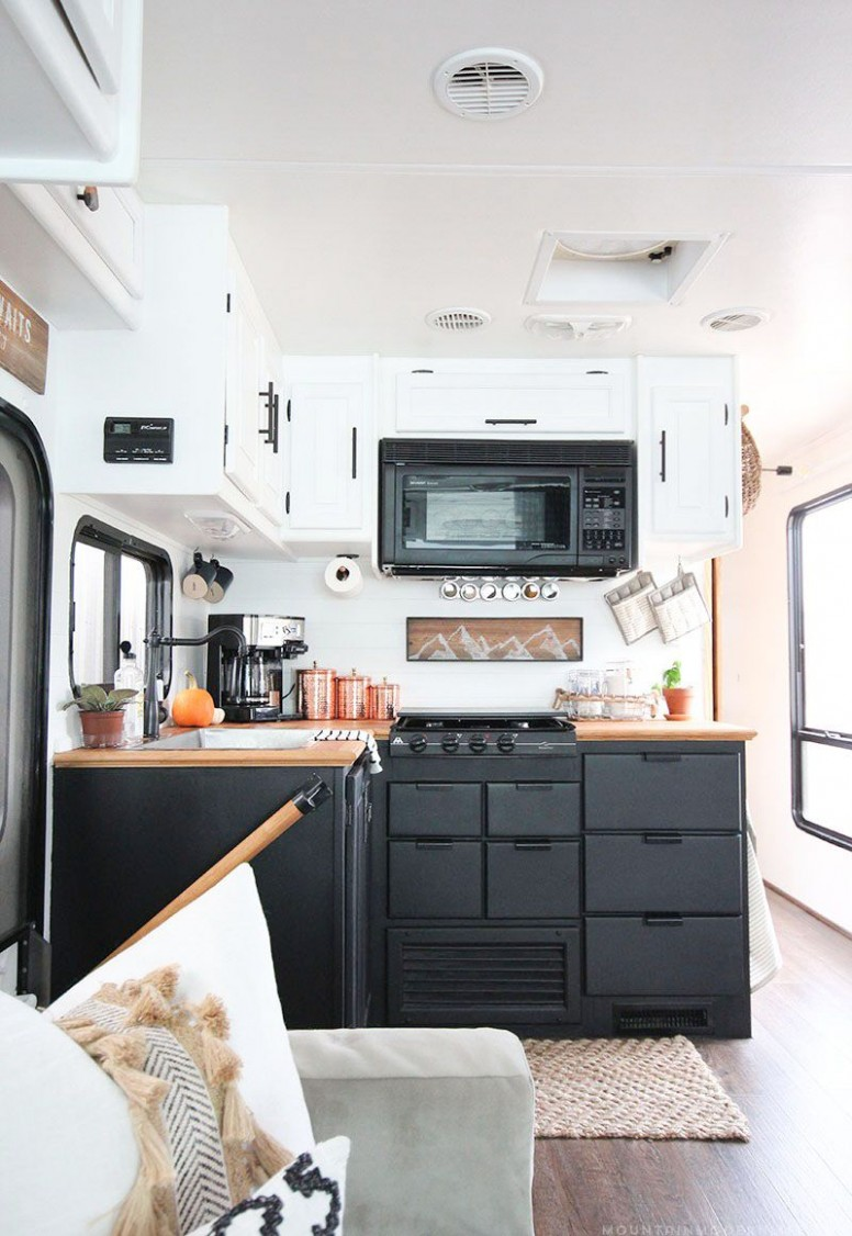 Thinking about updating the kitchen in your camper? Come see how  - Motorhome Kitchen Cabinets