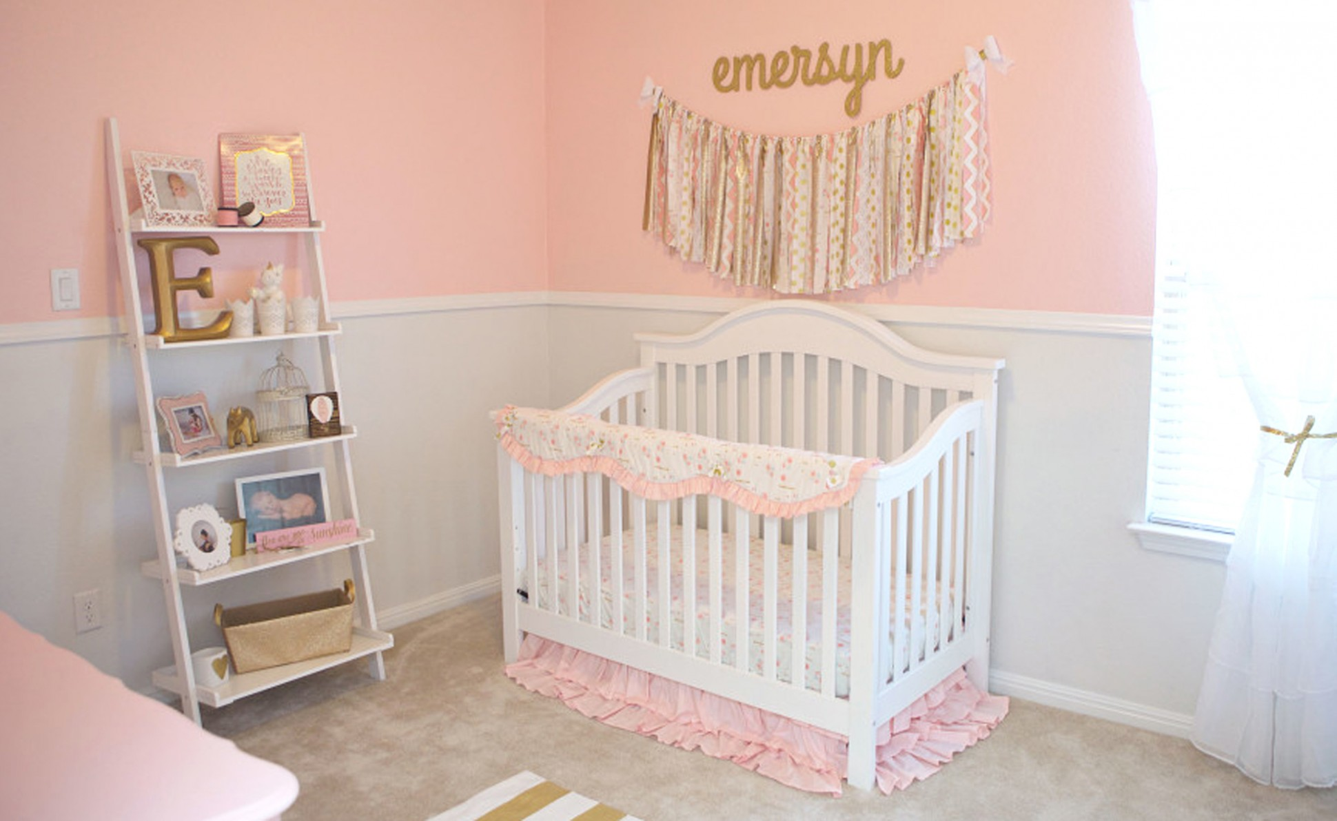 This is the Easiest DIY Fabric Garland Ever! - Project Nursery - Baby Room Garland