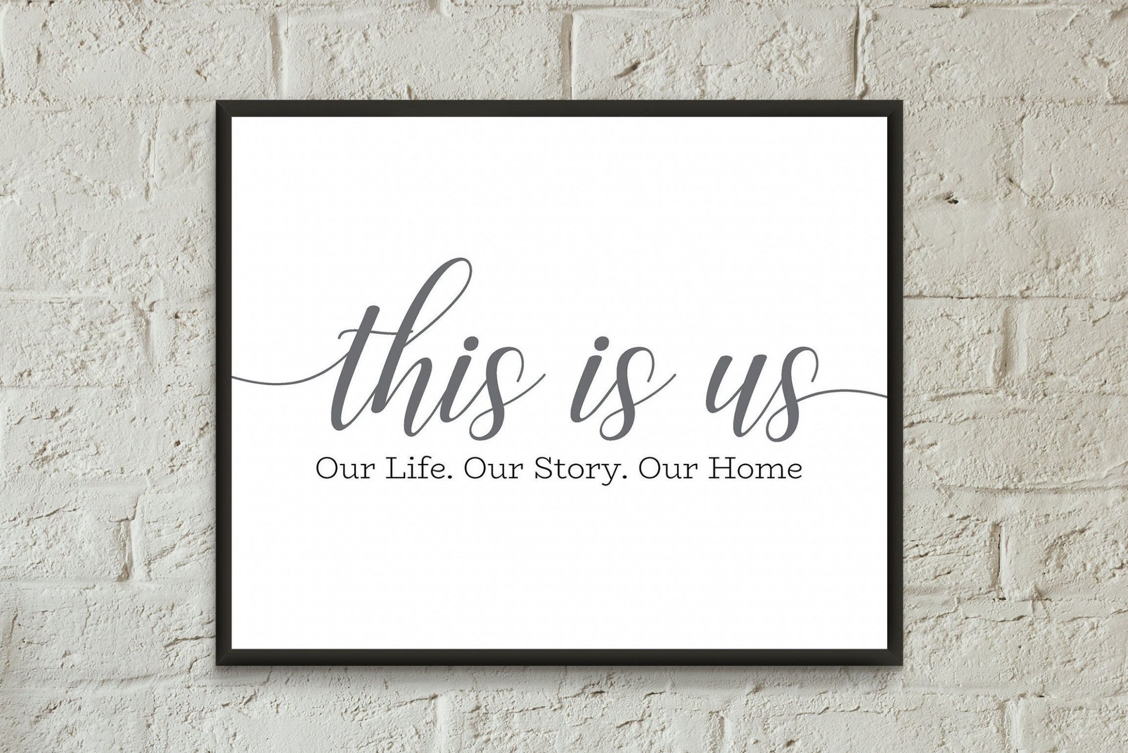 This is us sign printable/this is us print quote bedroom/home  - Apartment Design Quotes