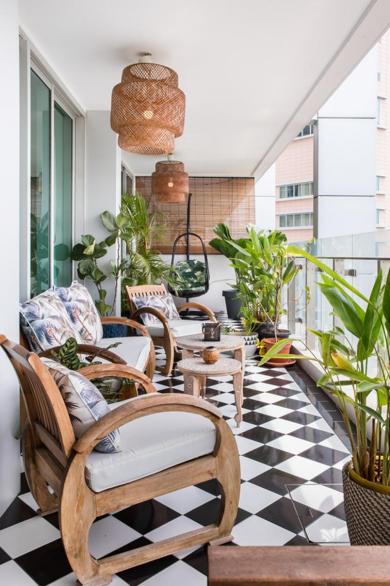 This Old-School Cool Apartment Has the Best View, Hands Down  - Balcony Ideas For Apartments