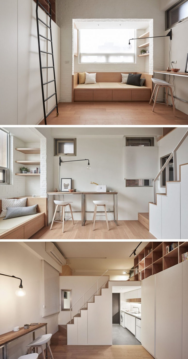 This Small Loft Apartment Is Designed To Include Everything They Need - Apartment Design With Loft