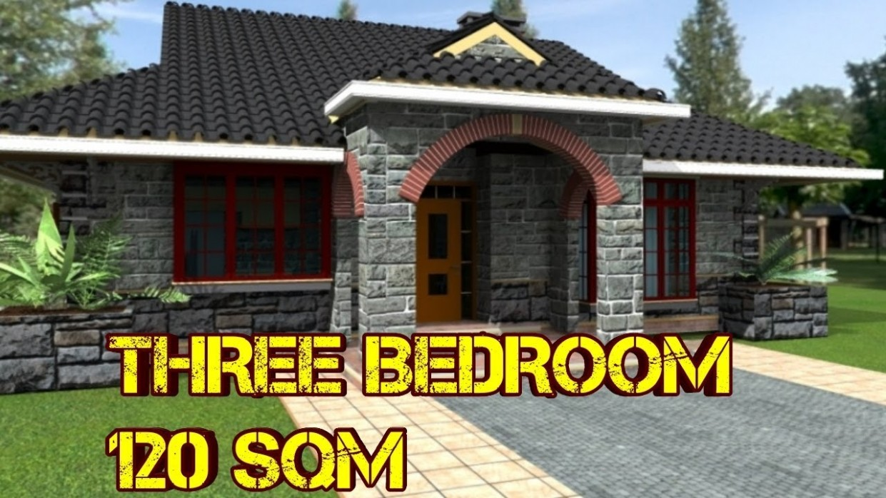 Three Bedroom House Plan Build In 11 Square Meters - Apartment Design For 120 Sqm Lot