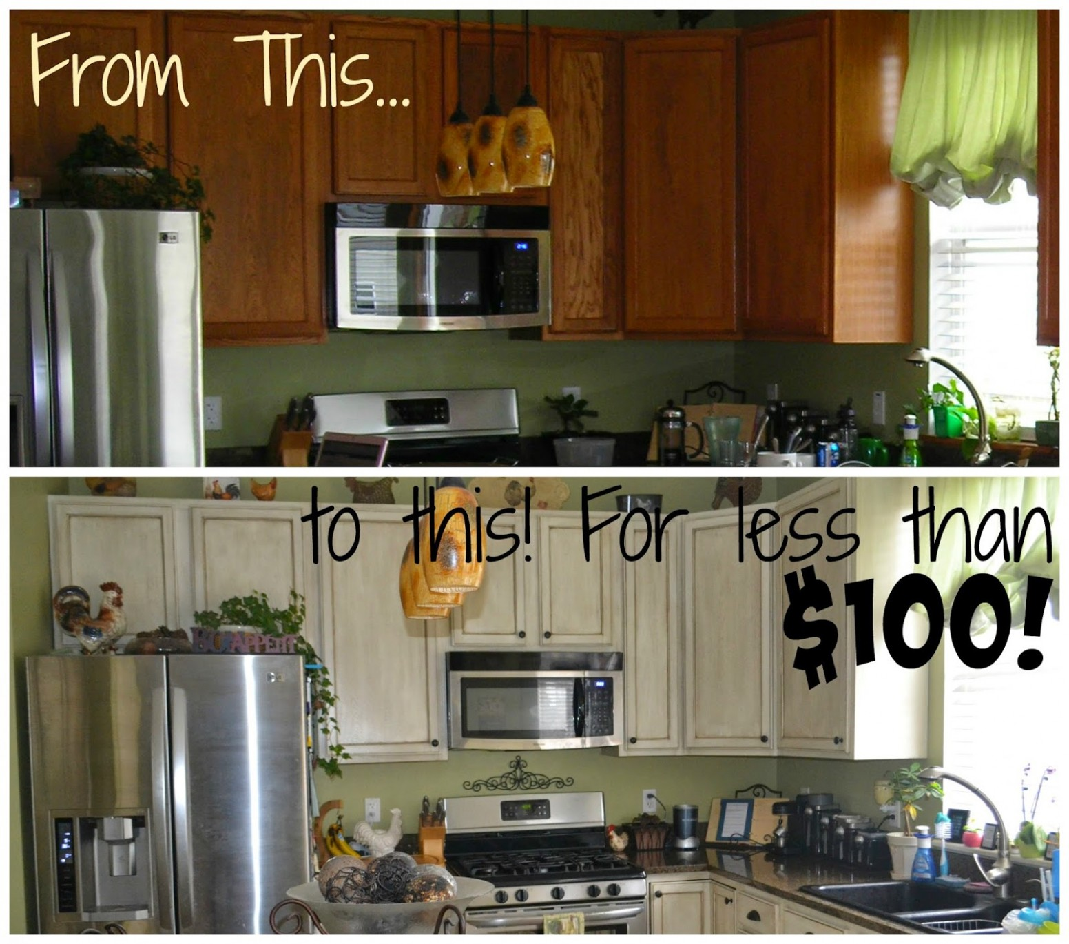 Thrifty Artsy Girl: White Glazed Cabinet Transformations: A Review  - Rustoleum Kitchen Cabinet Paint Kit Reviews