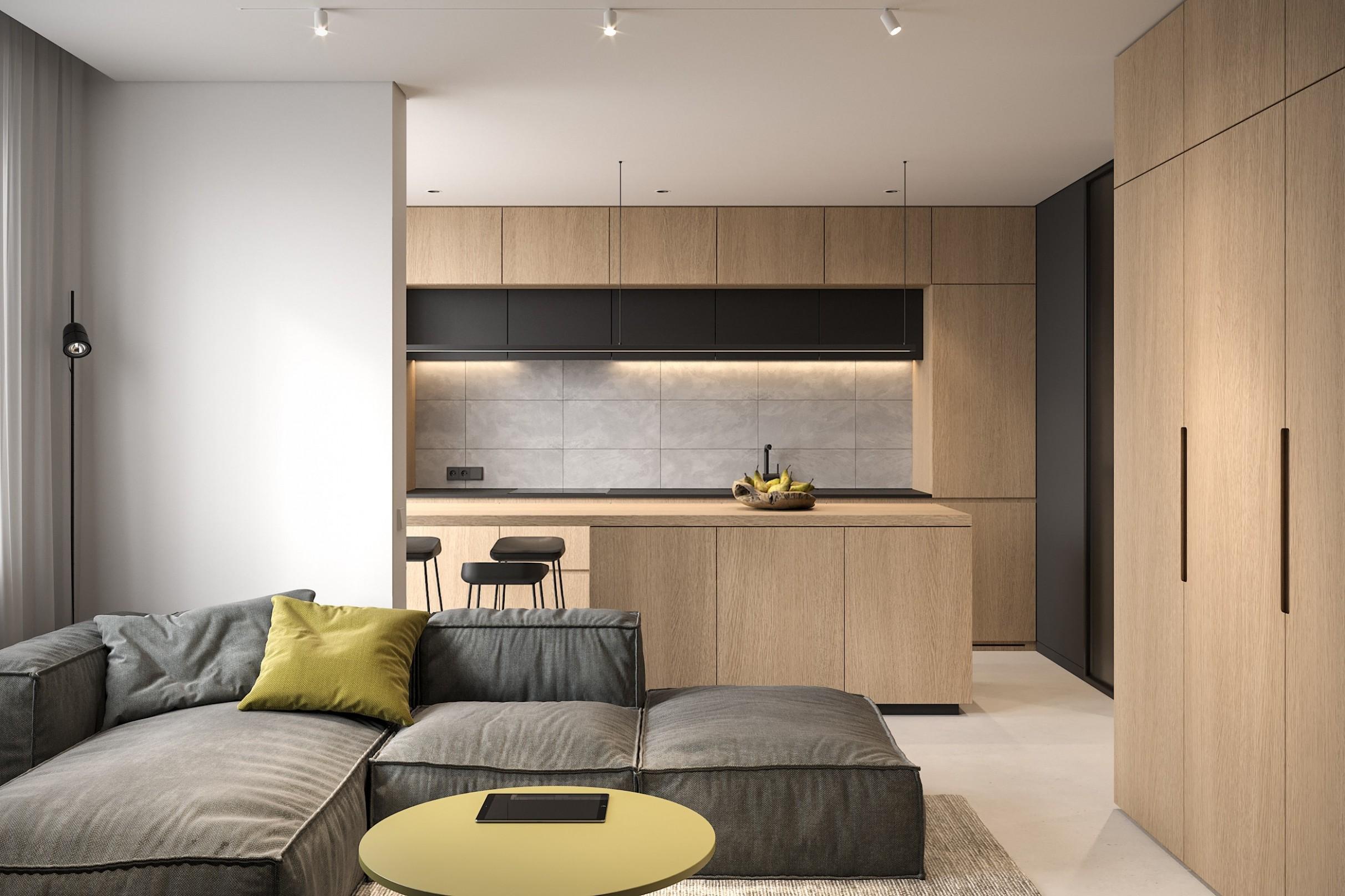 Tiny Apartment - small apartment interior design by Bezmirno - Apartment Design Pictures