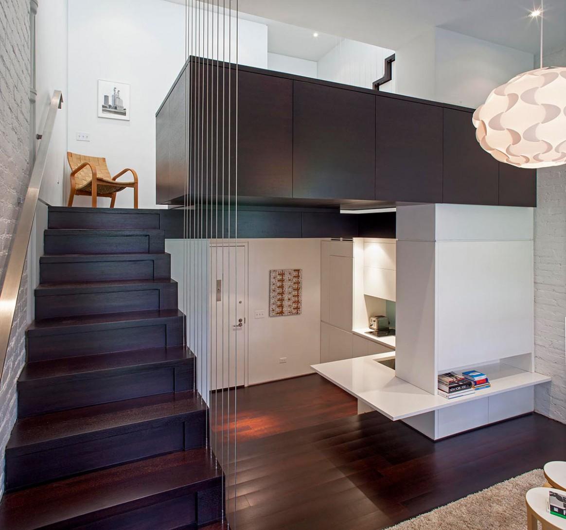 Tiny Micro Loft Apartment In Manhattan  iDesignArch  Interior  - Apartment Design With Loft